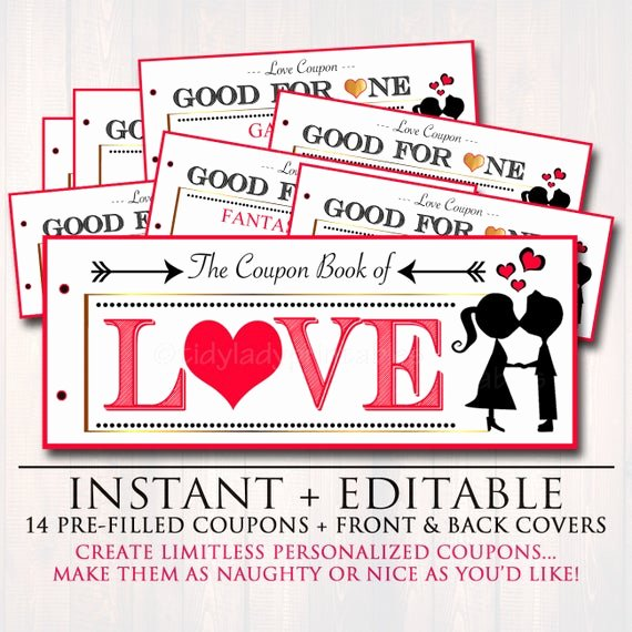 Free Love Coupons for Him New Editable Love Coupon Book Instant Download Printable Love