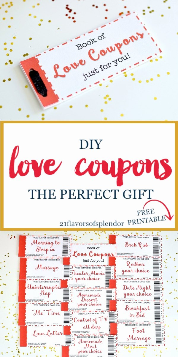 Free Love Coupons for Him New Free Printable Love Coupons the Perfect Gift 21 Flavors