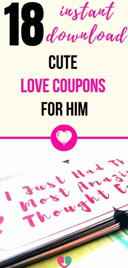 Free Love Coupons for Him Unique 18 Cute and Free Printable Love Coupons for Him Instant