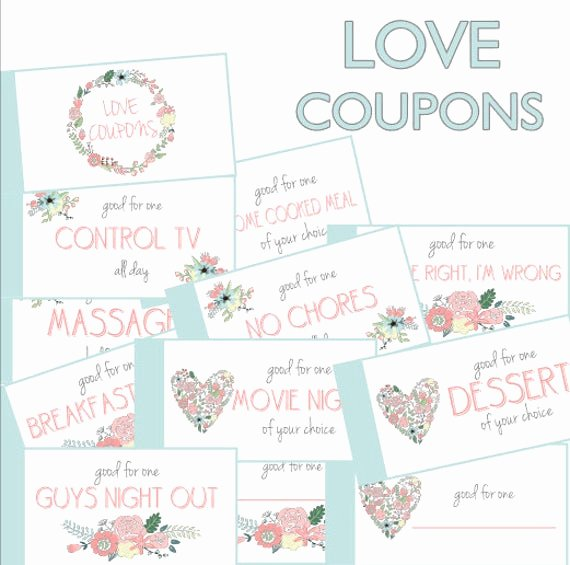 Free Love Coupons for Him Unique Love Coupon Book Love Coupons Coupon Book Anniversary Gift