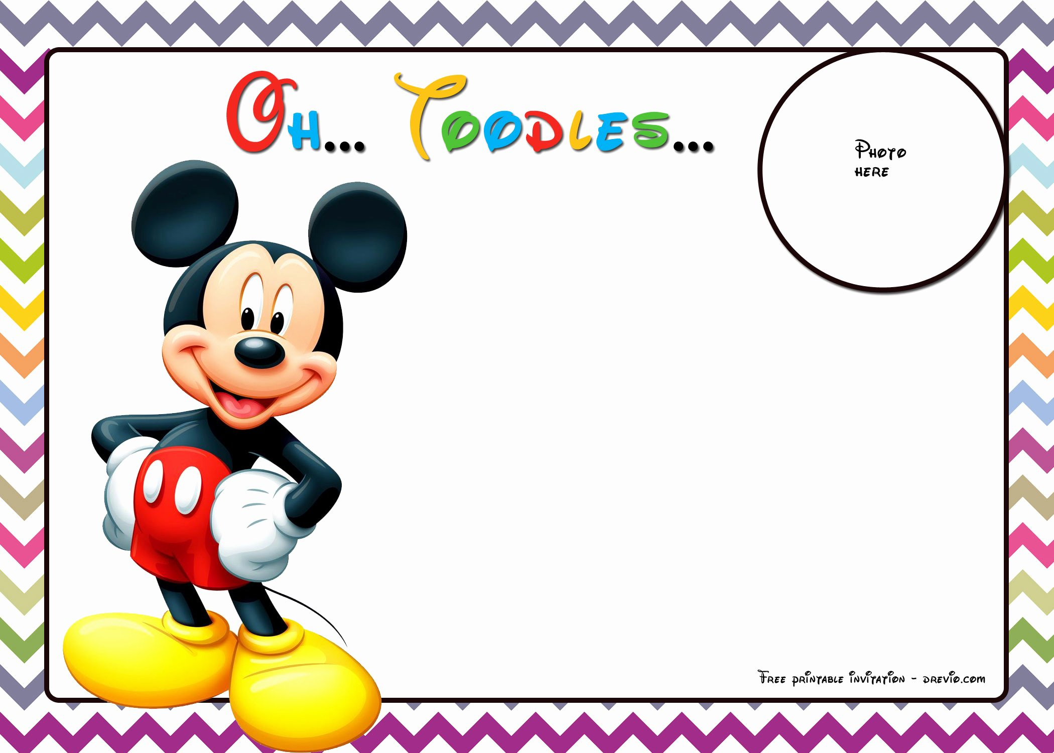 Free Mickey Mouse Birthday Invitations Fresh Free Mickey Mouse Birthday Invitations Template – Chevron
