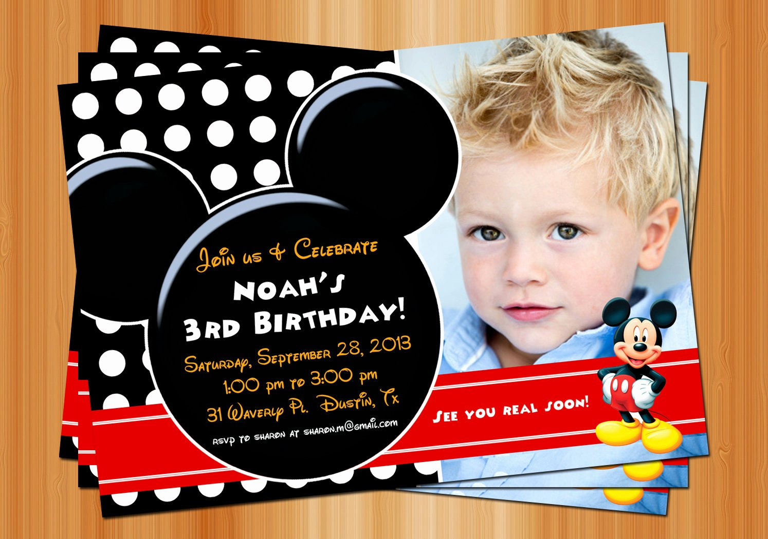 Free Mickey Mouse Birthday Invitations Luxury Mickey Mouse Birthday Invitation Printable Birthday Party