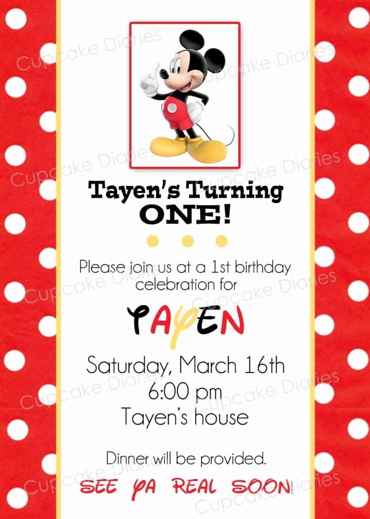 Free Mickey Mouse Birthday Invitations New Simple Mickey Mouse Birthday Party Free Subway Art