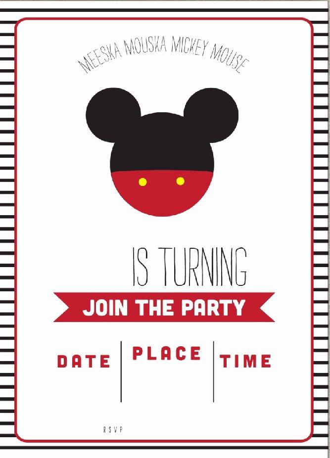 Free Mickey Mouse Birthday Invitations Unique Free Mickey Mouse Clubhouse Birthday Invitations – Free