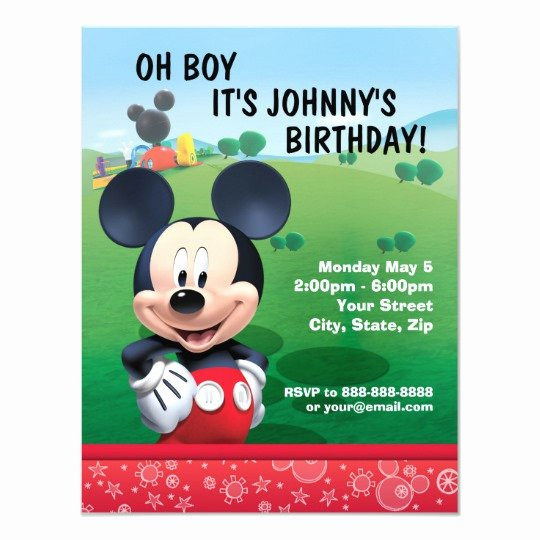 Free Mickey Mouse Birthday Invitations Unique Mickey Mouse Birthday Invitation