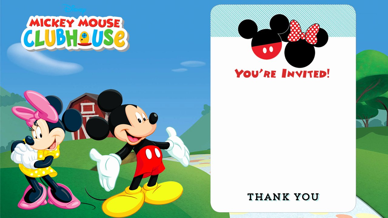 Free Mickey Mouse Clubhouse Invitations Awesome Free Mickey Mouse Clubhouse Birthday Invitations – Free