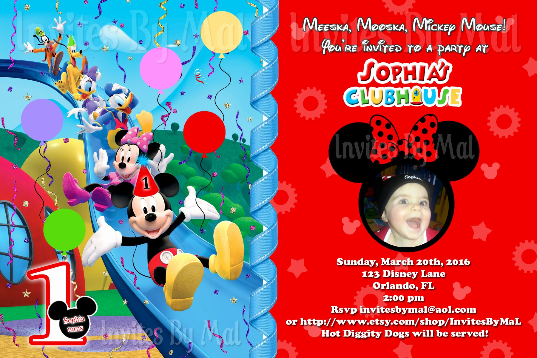 Free Mickey Mouse Clubhouse Invitations Awesome Mickey Mouse 1st Birthday Invitations Free Invitation