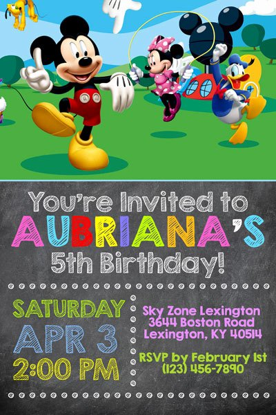 Free Mickey Mouse Clubhouse Invitations Awesome Mickey Mouse Clubhouse Invitations
