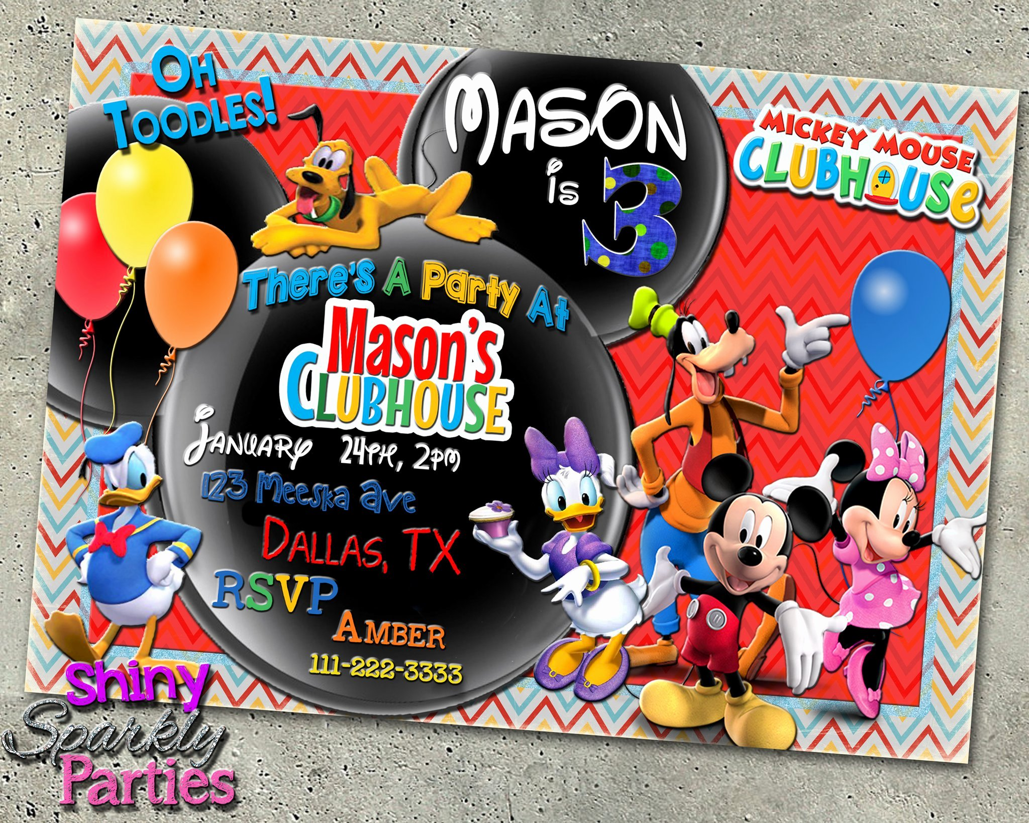Free Mickey Mouse Clubhouse Invitations Beautiful Mickey Mouse Clubhouse Birthday Invitation forever Fab