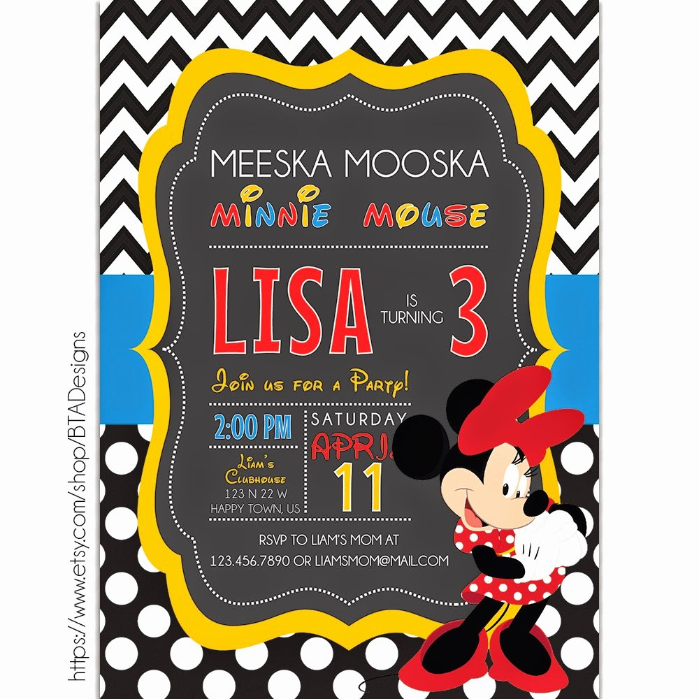 Free Mickey Mouse Clubhouse Invitations Beautiful Mickey Mouse Inspired Birthday Invitations Free Printable