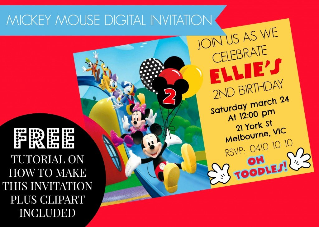 Free Mickey Mouse Clubhouse Invitations Elegant How to Make Mickey Mouse Clubhouse Digital Invitation Step
