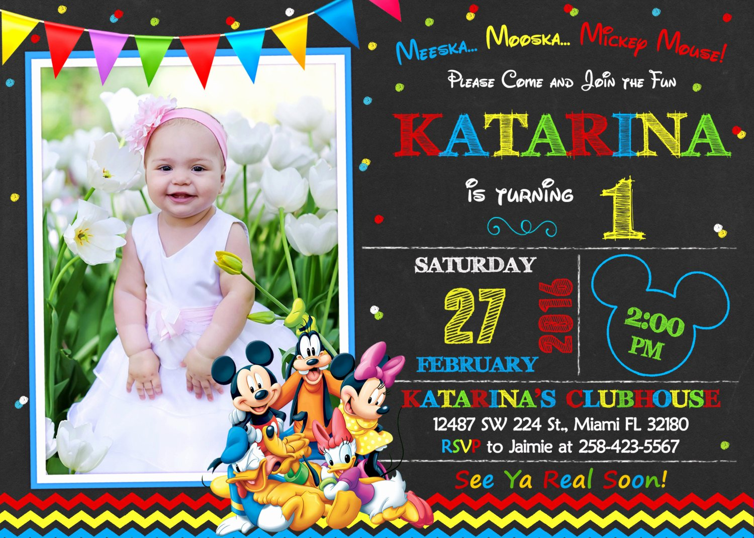 Free Mickey Mouse Clubhouse Invitations Elegant Mickey Mouse Clubhouse Invitation Birthday Mickey Mouse