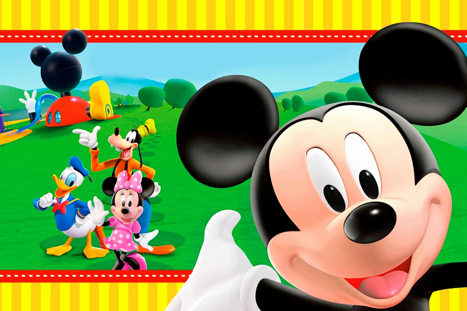 Free Mickey Mouse Clubhouse Invitations Inspirational Mickey Clubhouse Invitations and Party Free Printables
