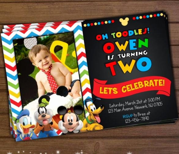Free Mickey Mouse Clubhouse Invitations Inspirational Mickey Mouse Invitation Template 23 Free Psd Vector