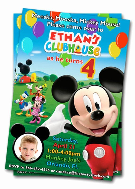 Free Mickey Mouse Clubhouse Invitations Lovely Mickey Mouse Clubhouse Birthday Invitations Printable Mickey