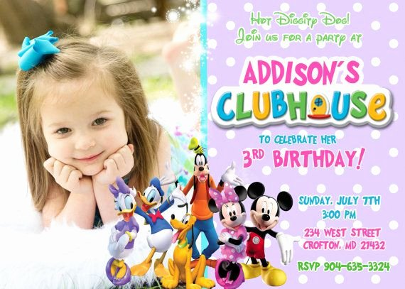 Free Mickey Mouse Clubhouse Invitations Unique Free Mickey Mouse Clubhouse Birthday Invitations to Make