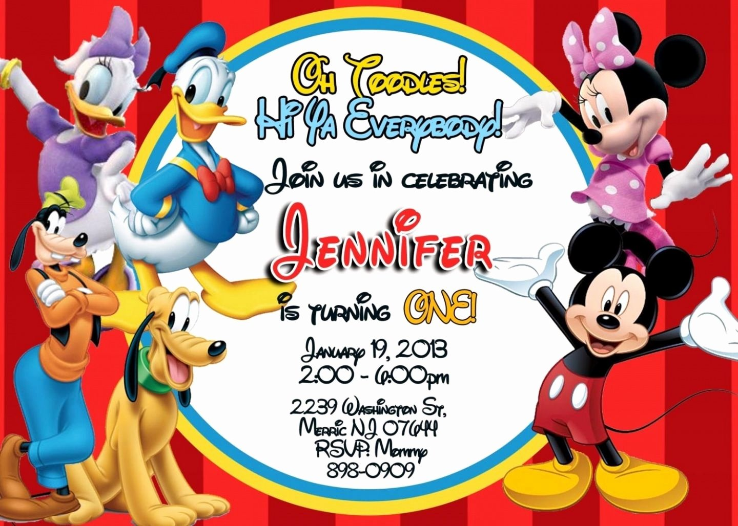 Free Mickey Mouse Clubhouse Invitations Unique Free Printable Mickey Mouse Clubhouse Invitations Template