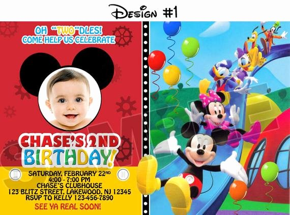 Free Mickey Mouse Clubhouse Invitations Unique Mickey Mouse Clubhouse Birthday Party Invitations