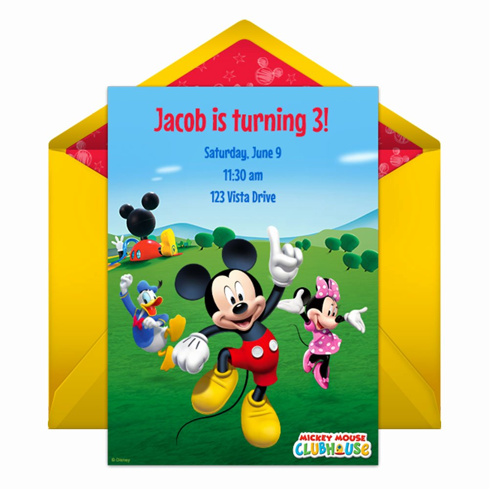 Free Mickey Mouse Clubhouse Invitations Unique Mickey Mouse Clubhouse Party Line Invitation