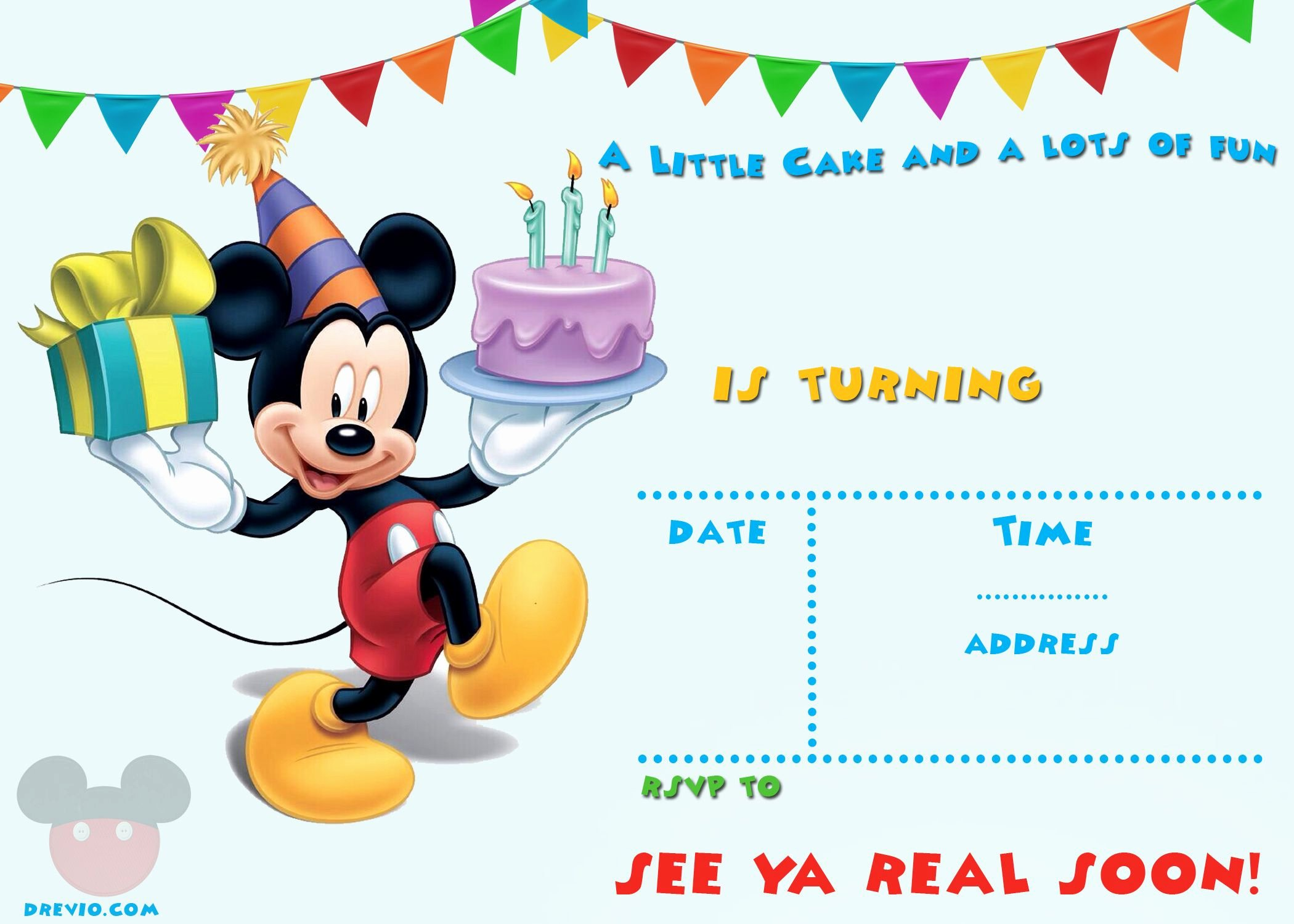 Free Mickey Mouse Invitation Template Awesome Free Printable Mickey Mouse Invitations Exclusive