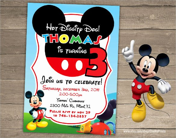 Free Mickey Mouse Invitation Template Best Of Sample Mickey Mouse Invitation Template 13 Download