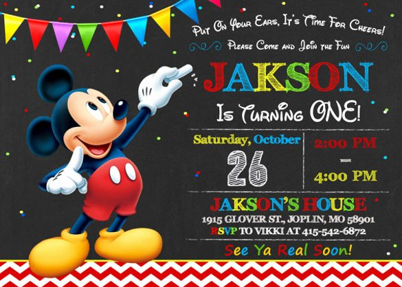 Free Mickey Mouse Invitation Template Lovely 30 Mickey Mouse Invitation Template