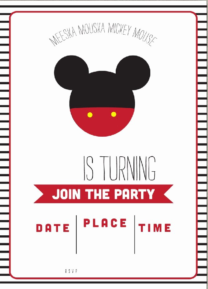 Free Mickey Mouse Invitation Template Lovely Free Mickey Mouse Clubhouse Birthday Invitations – Free