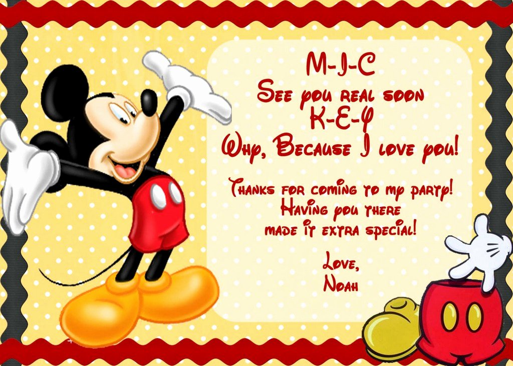 Free Mickey Mouse Invitation Template New Mickey Mouse Invitation Template Free