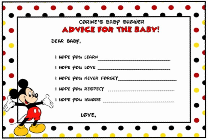 Free Mickey Mouse Invitation Template New Mickey Mouse Shower Invitation Template