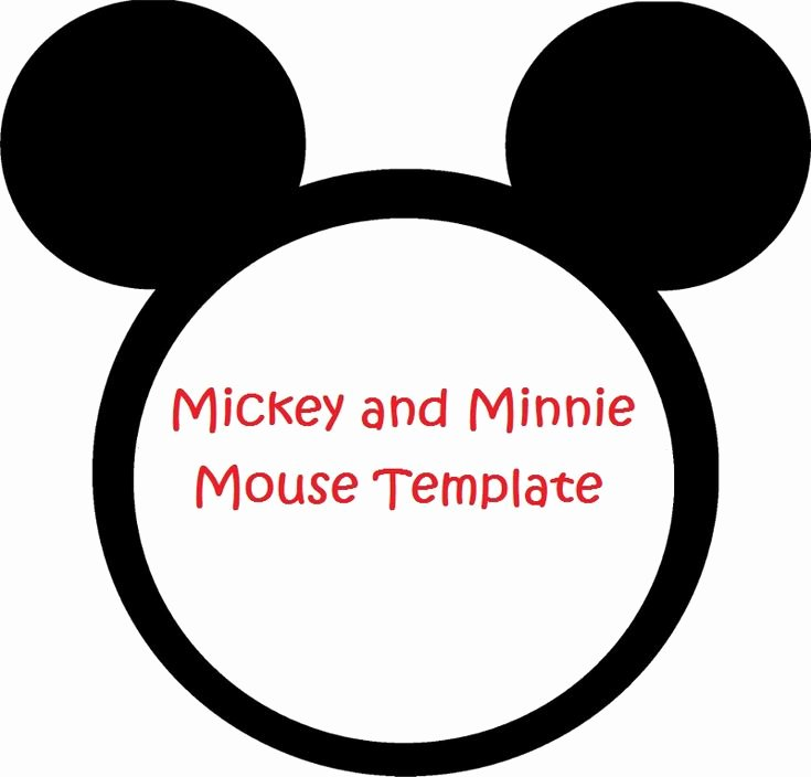 Free Mickey Mouse Invitation Template New Minnie Mouse Cut Outs Printable