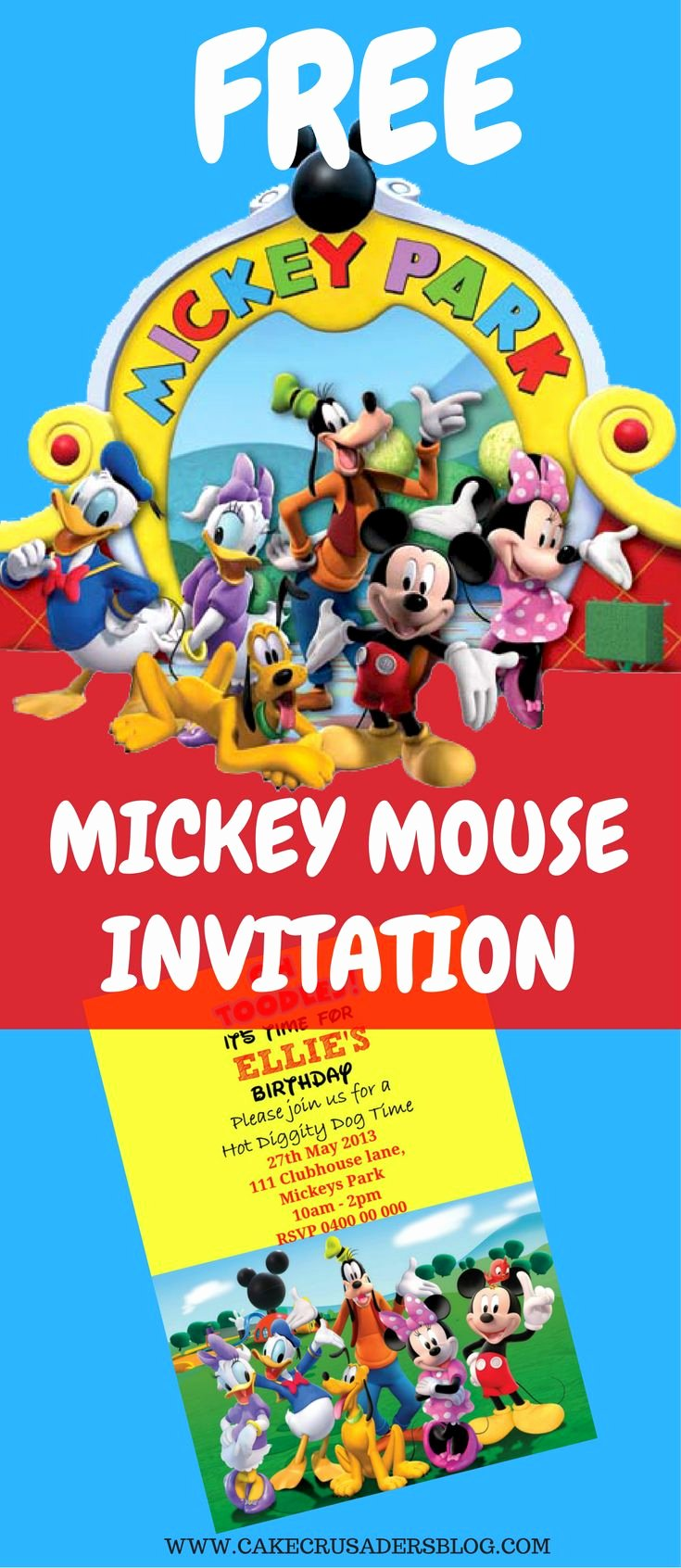Free Mickey Mouse Invitations Awesome Best 20 Mickey Mouse Invitation Ideas On Pinterest