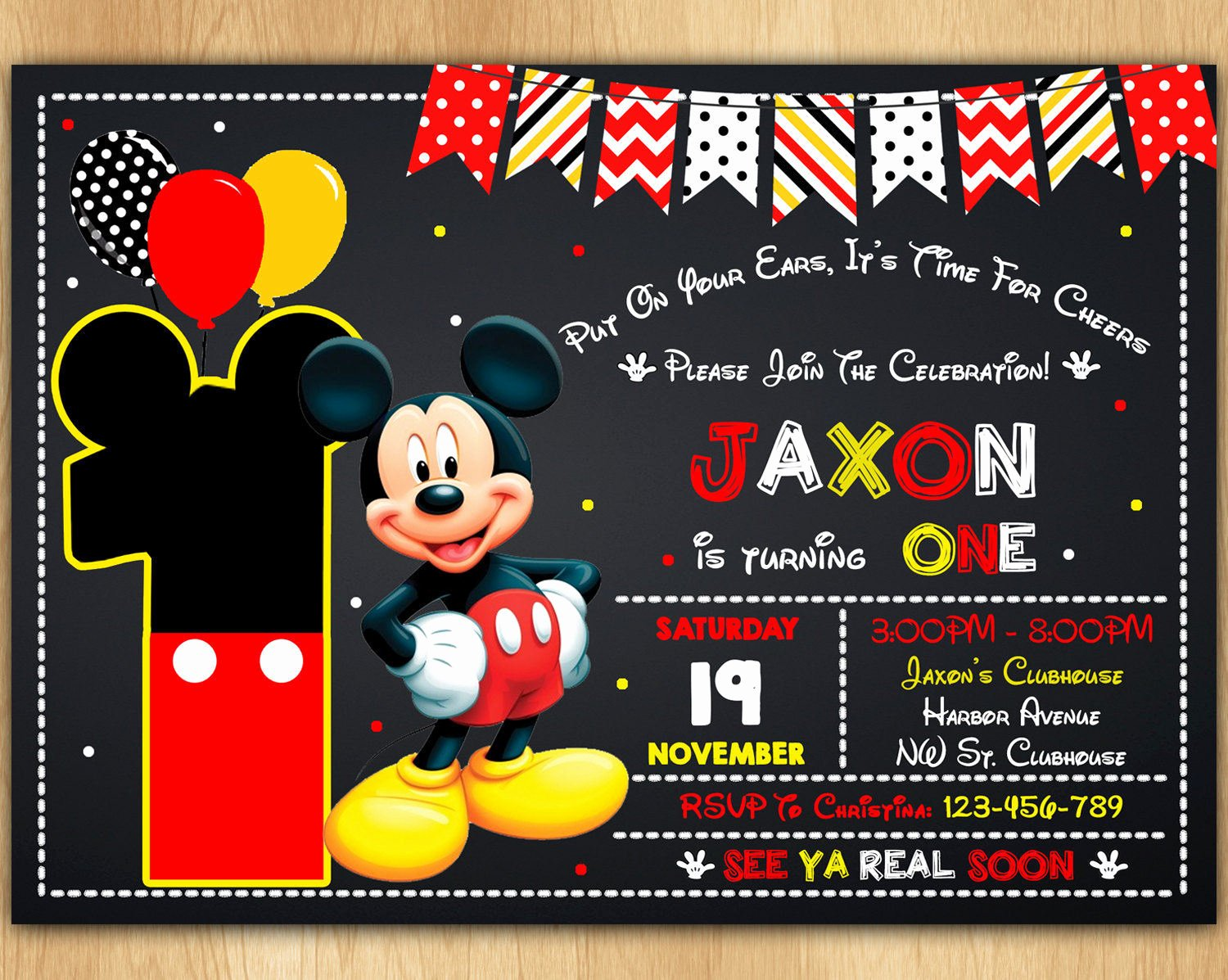 Free Mickey Mouse Invitations Awesome Mickey Mouse Invitation Mickey Mouse Invite Mickey Mouse