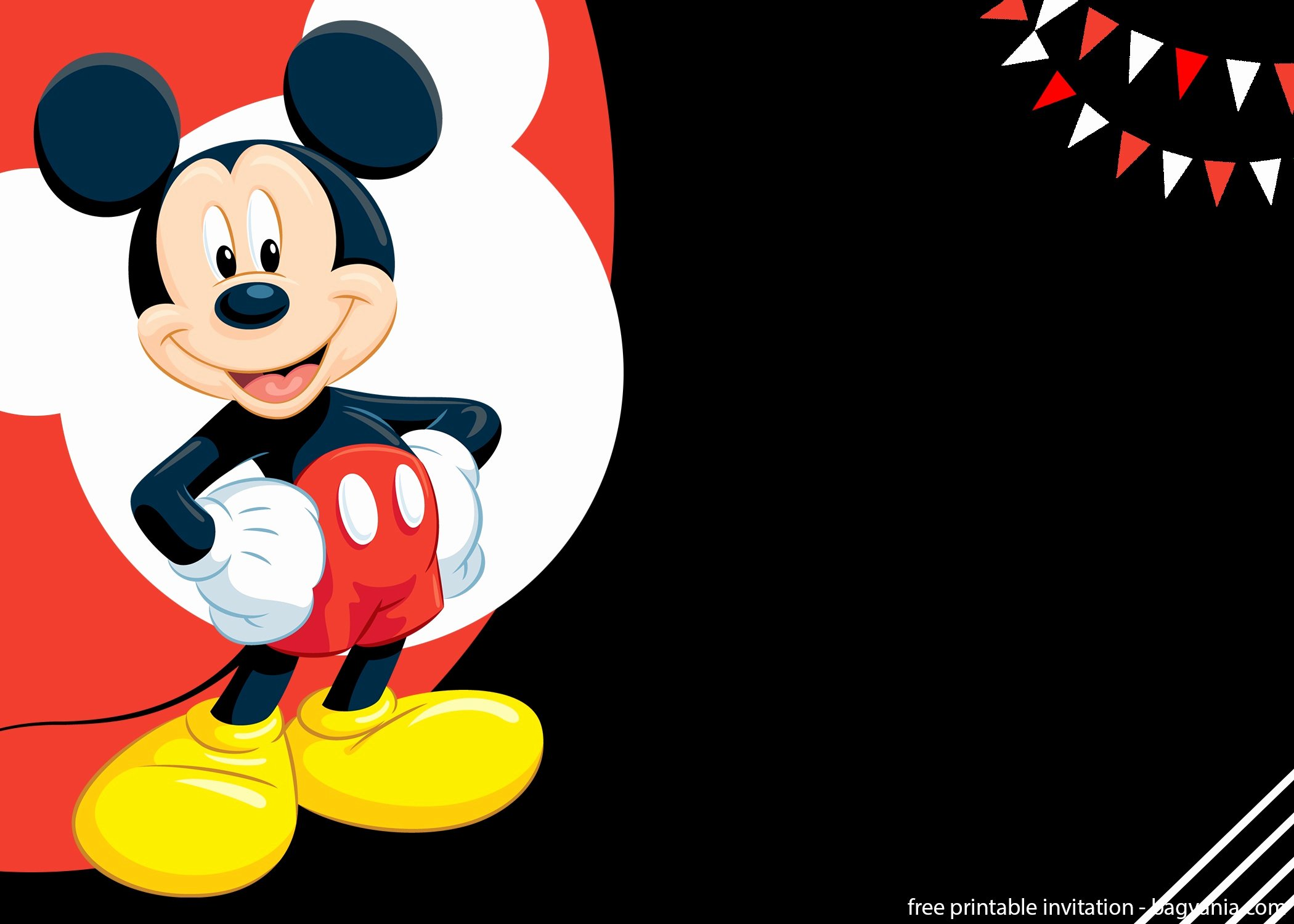 Free Mickey Mouse Invitations Best Of Free Mickey Mouse Splish Splash Invitation Template – Free