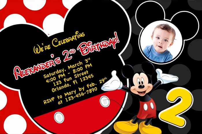Free Mickey Mouse Invitations Best Of Free Printable Mickey Mouse 1st Birthday Invitation