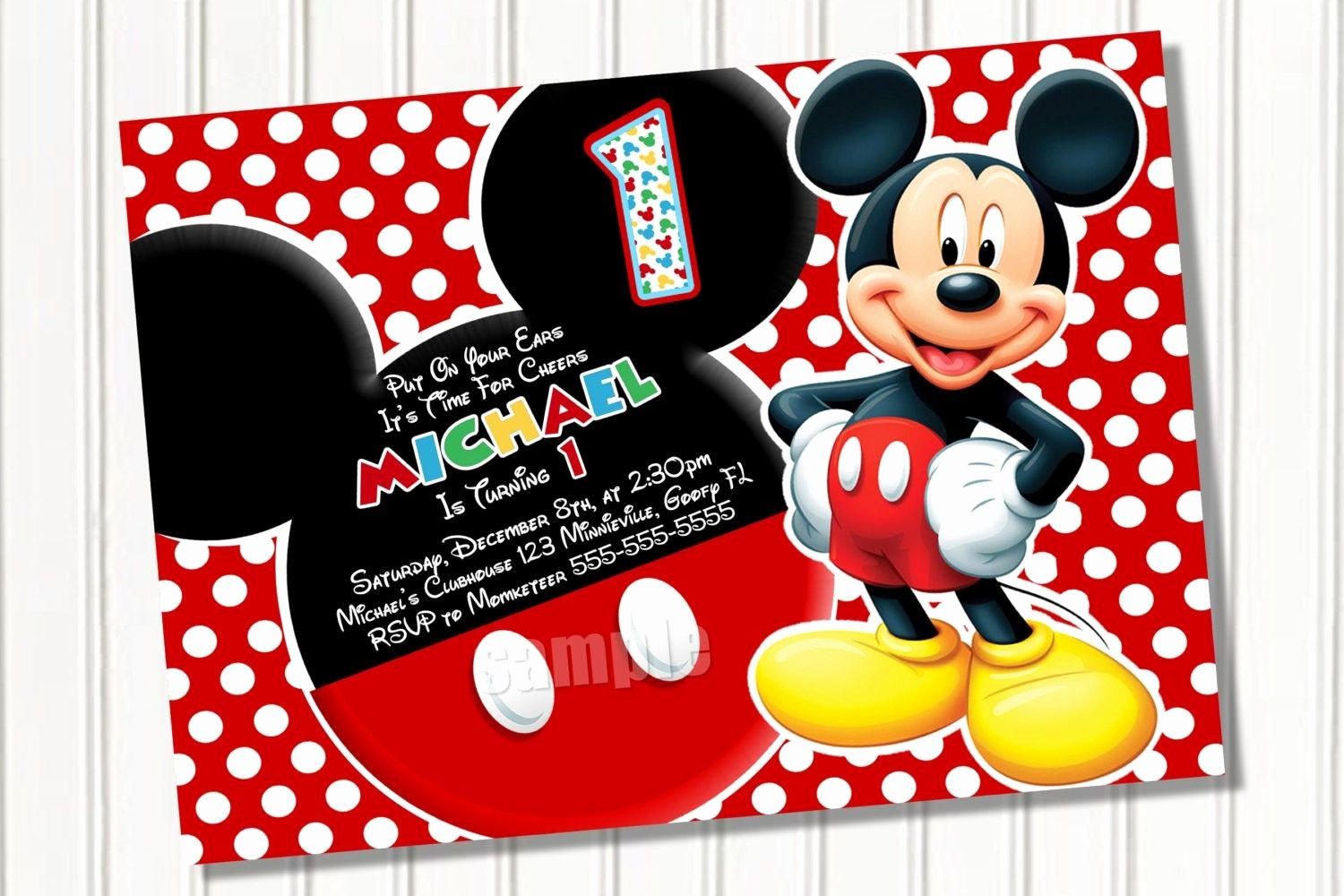Free Mickey Mouse Invitations Best Of Free Printable Mickey Mouse 1st Birthday Party Invitations