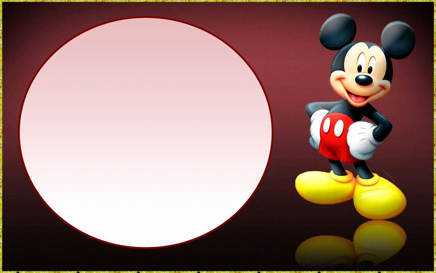 Free Mickey Mouse Invitations Lovely Printable Free Mickey Mouse Invitation