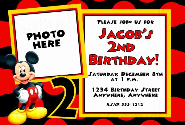 Free Mickey Mouse Invitations Luxury Mickey Mouse Invitation Templates – 26 Free Psd Vector