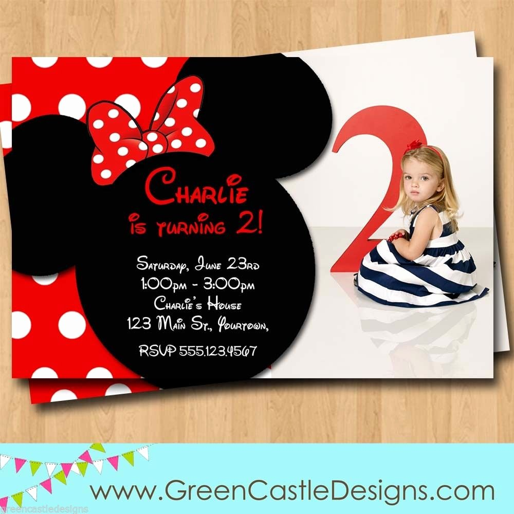 Free Minnie Mouse Invitations Personalized Best Of Free Minnie Mouse Invitations