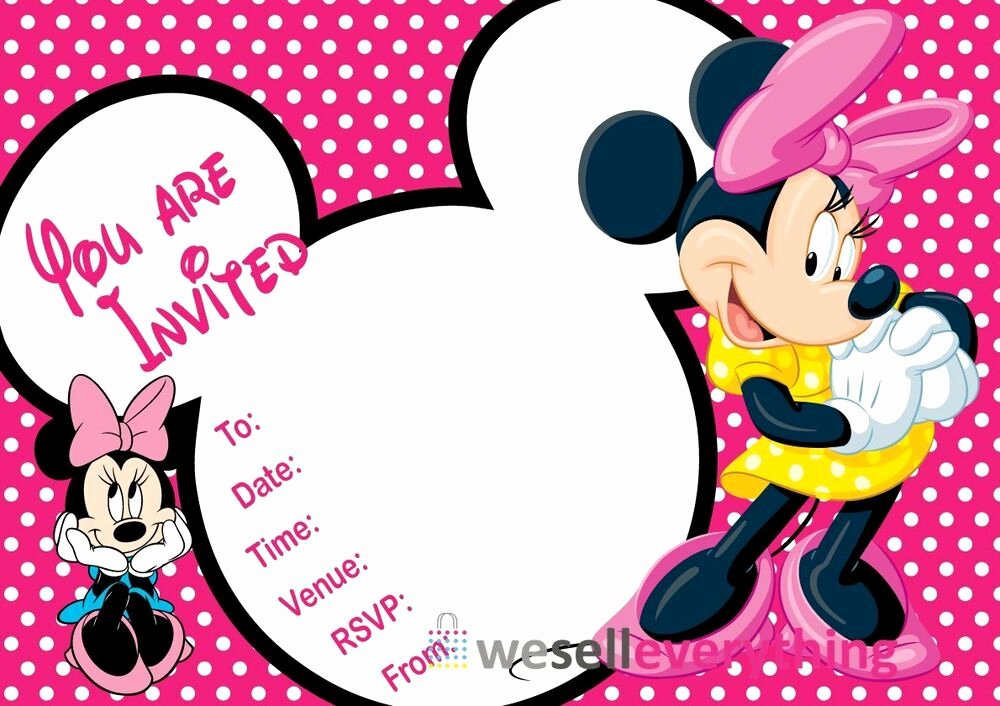 "Free Minnie Mouse Invitations Personalized Elegant 20 Minnie Mouse Party Invitations Kids Children""s Invites"