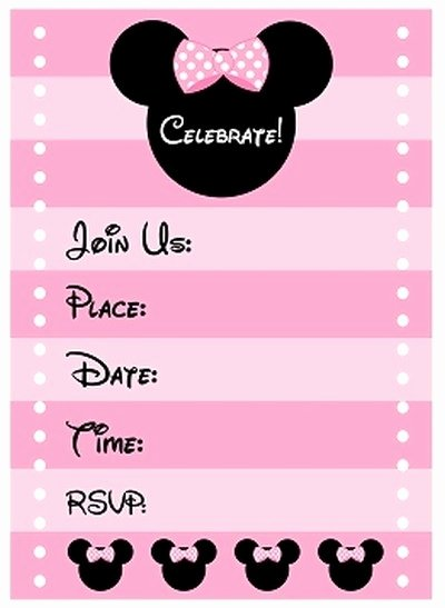 Free Minnie Mouse Invitations Personalized Elegant Minnie Mouse Invitations Line Cobypic