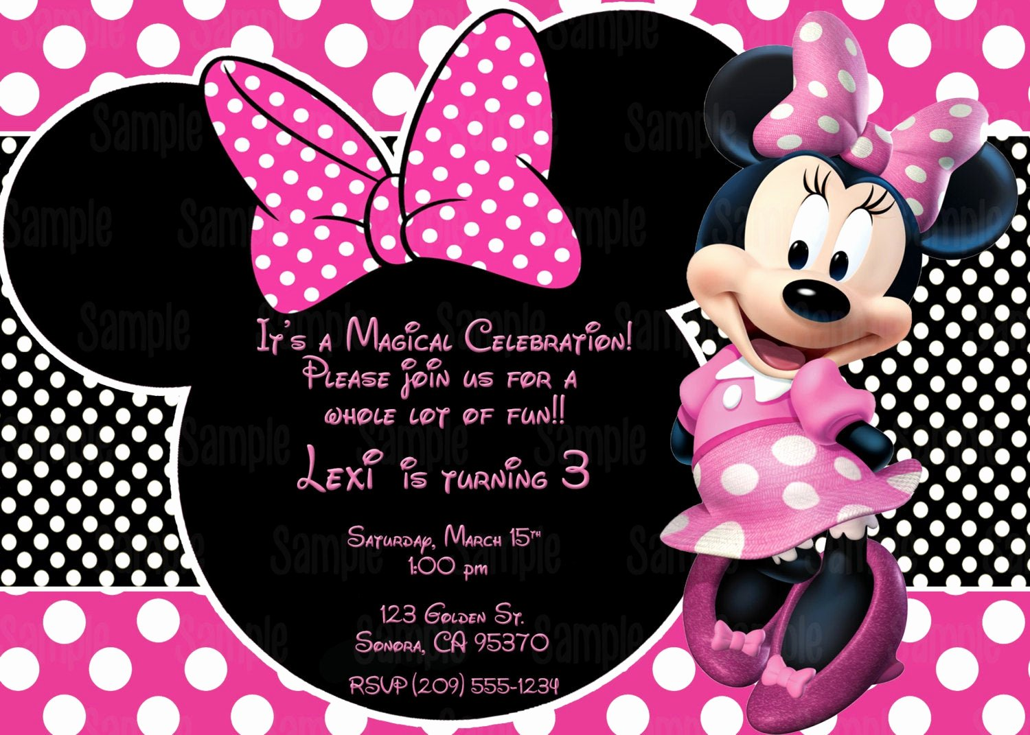 Free Minnie Mouse Invitations Personalized Elegant Printable Minnie Mouse Invitation Plus Free Blank Matching