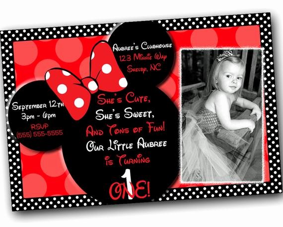 Free Minnie Mouse Invitations Personalized Elegant Sale Minnie Mouse Invitations with Free Thank You Card Minnie