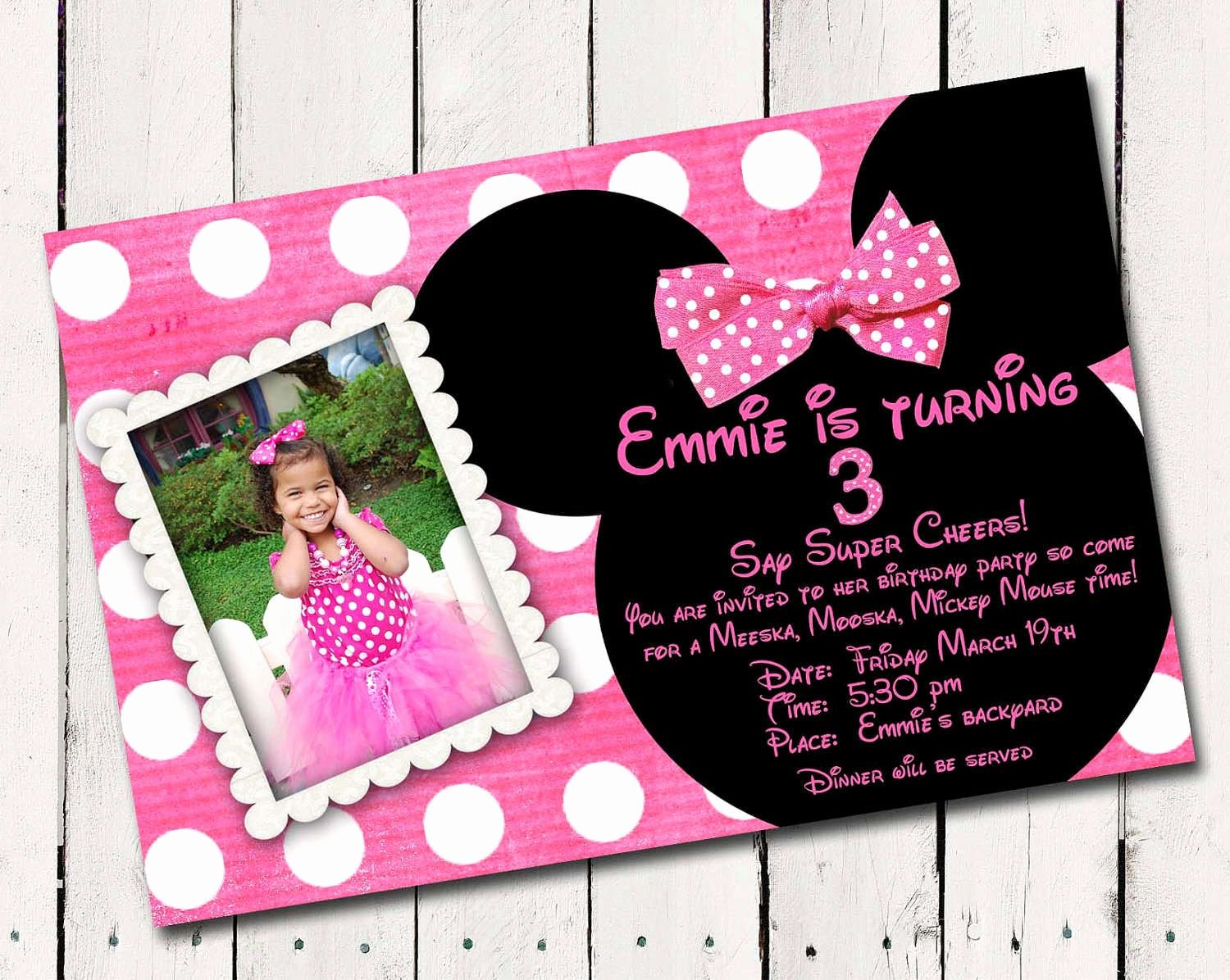 Free Minnie Mouse Invitations Personalized Inspirational Minnie Mouse Free Invitation Templates