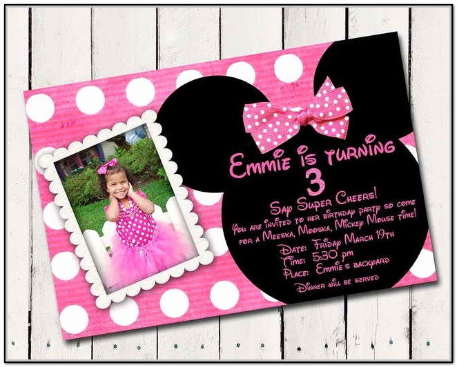 Free Minnie Mouse Invitations Personalized Lovely Minnie Mouse Birthday Invitations Personalized Free
