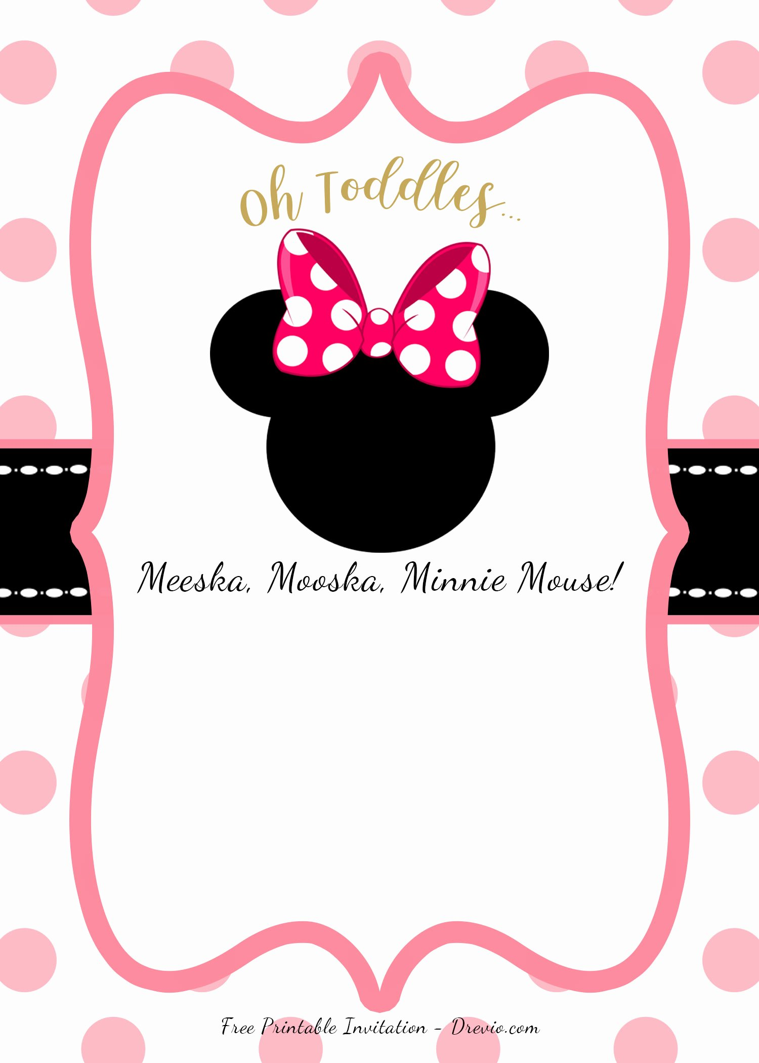Free Minnie Mouse Templates Beautiful Free Minnie Mouse Head Invitation Templates – Free