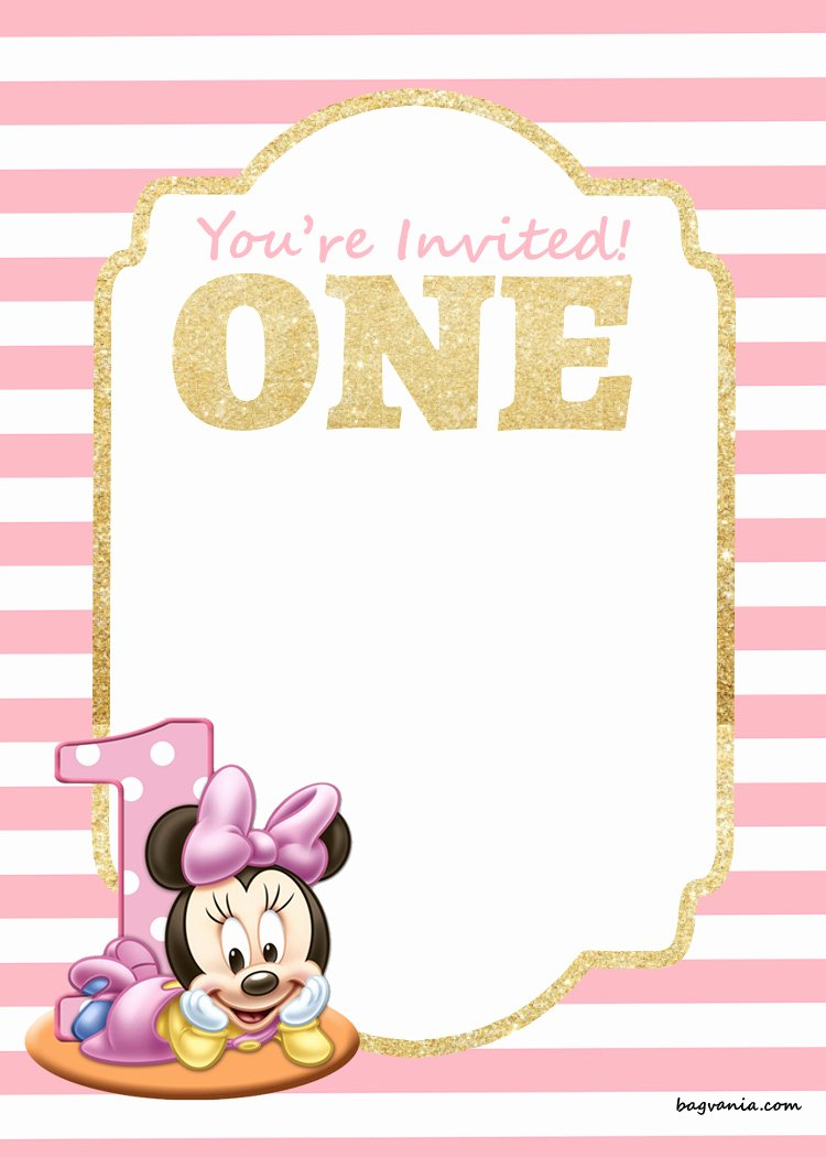 free printable disney princess 1st birthday invitations templates