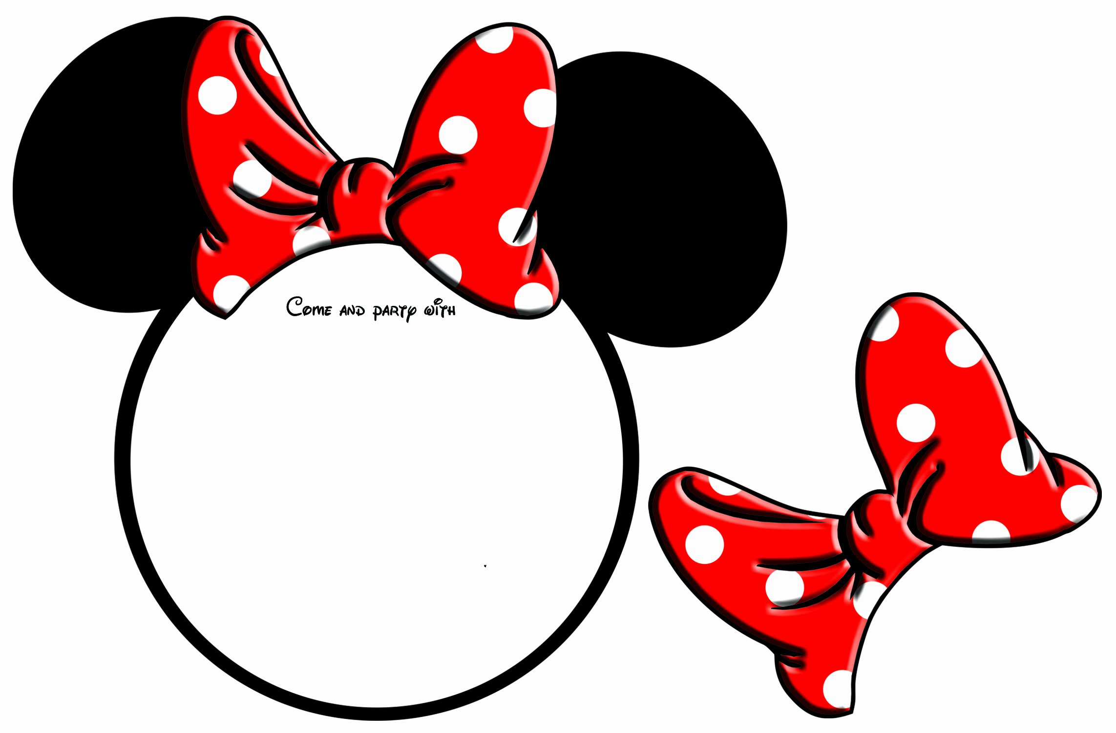 Free Minnie Mouse Templates Unique Free Printable Minnie Mouse Head Invitation Template