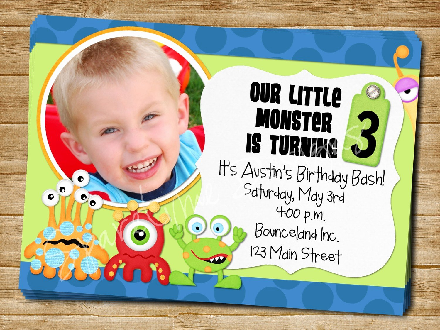 Free Monsters Inc Invitation Template Awesome Monster Birthday Invitations Ideas – Bagvania Free