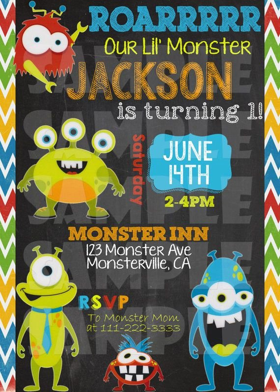 Free Monsters Inc Invitation Template Best Of Free Monster Birthday Invitations – Free Printable