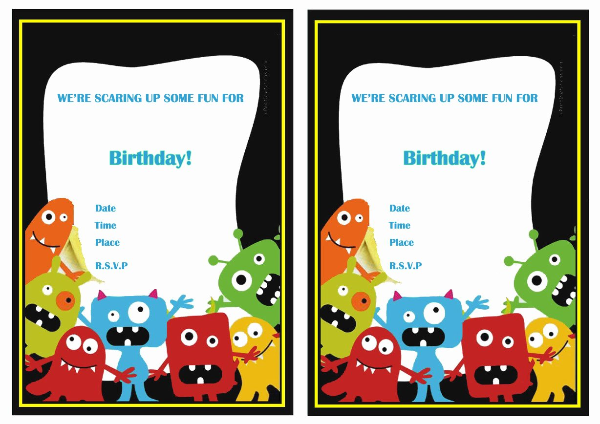 Free Monsters Inc Invitation Template Best Of Monsters University Birthday Invitations